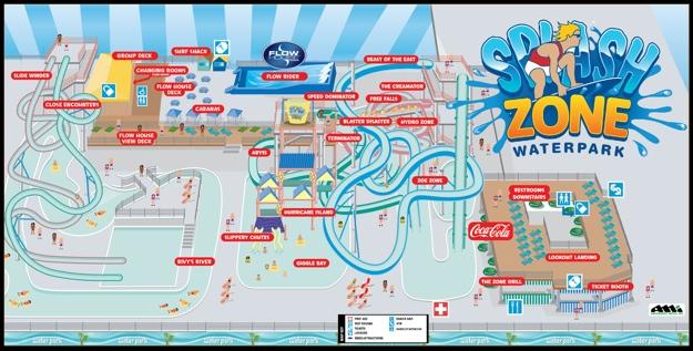 Park Map Splash Zone Water Park